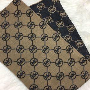 Michale Kors 2 tone monogram scarf